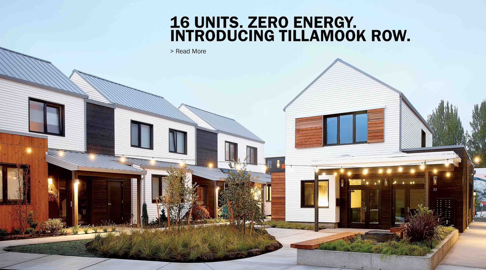 Tillamook Row Zero Energy Community